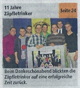 11-Jahre-Zäpfletrinker-Dankeschönabend_vHzH vom 14.11.2013_Titelseite