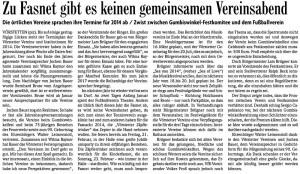Terminabsprache der Vereine für 2014_BZ vom 08.11.2013